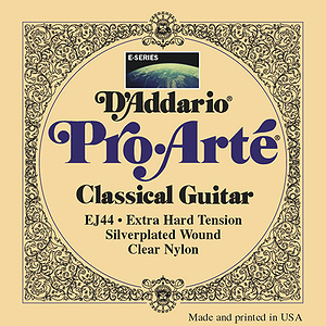 D'Addario EJ44 Pro-Arte Classical Nylon Guitar Strings - Extra Hard, 3 Sets