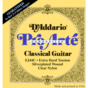 D'Addario EJ44C Classical Guitar Pro-Arte Classic Guitar Strings - Extra Hard Tension