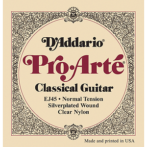 D&#039;Addario EJ45 Pro-Arte Classical Nylon Guitar Strings - Silver/Clear, Normal, 3 Sets