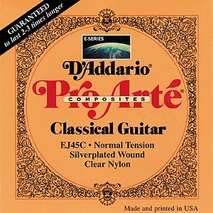 D&#039;Addario EJ45C Pro-Arte Classical Nylon Guitar Strings - Coated Composite, Normal, 3 Sets