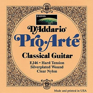 D'Addario EJ46 Pro-Arte Classical Nylon Guitar Strings - Silver/Clear, Hard, 3 Sets