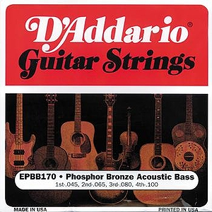 D&#039;Addario 4-string Acoustic Bass Strings - 1 set