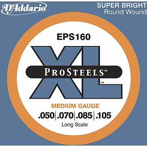 D'Addario EPS160 Pro Steel Bass Guitar Strings - Medium Gauge