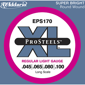 D'Addario EPS170 Pro Steel Bass Guitar Strings - Regular Light Gauge