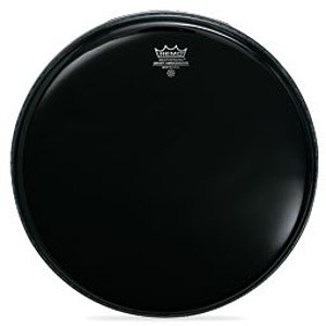"Remo Ambassador Center Hole Bass Drum Head - 22"" Ebony"