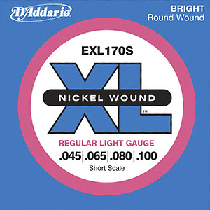 D'Addario XL170S Bass Strings - Short scale, 1 set of strings