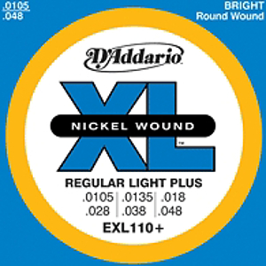 D'Addario EXL110+  Regular Light Plus Electric Guitar Strings, 3 Sets