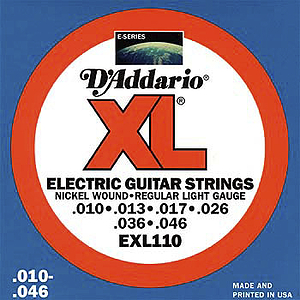 D'Addario XL Electric Guitar Strings - Light, Environmental Packaging - Box of 10 sets