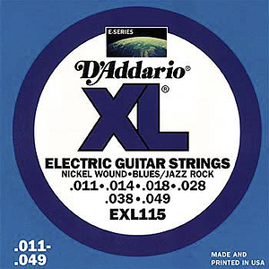 D'Addario XL Electric Guitar Strings - Blues/Jazz/Rock, Environmental Packaging - Box of 10 sets