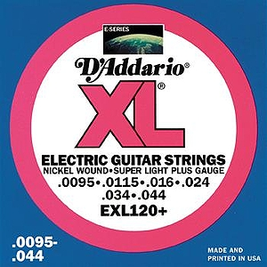 D'Addario EXL120+ Electric Guitar Strings - Nickel Round Wound, Super Light Plus, 3 Sets