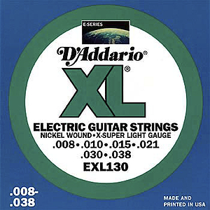D'Addario XL Electric Guitar Strings - Extra Super Light, Environmental Packaging - Box of 10 sets