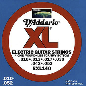 D'Addario XL Electric Guitar Strings - Light Tops/Heavy Bottoms, Environmental Packaging - Box of 10 sets