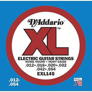 D'Addario EXL145 Nickel Wound Electric Guitar Strings - Heavy Gauge - 3 Sets