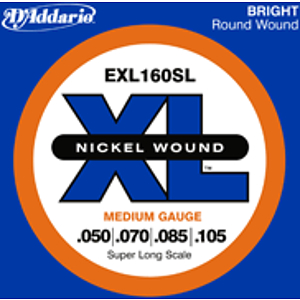 D'Addario EXL160SL Nickel Round Wound Electric Bass Strings - Medium Gauge