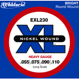 D'Addario EXL230 Nickel Round Wound Electric Bass Strings - Heavy