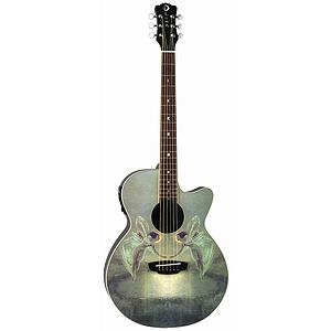 Luna Spirit of the Night Acoustic-Electric Guitar - with Faerie Design