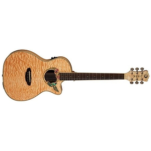 Luna Fauna Series Hummingbird Cutaway Acoustic-Electric Guitar - Natural
