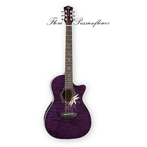 Luna Flora Passionflower Acoustic-Electric Guitar
