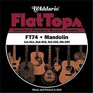 D'Addario FT74 Mandolin Strings - Flat Top, 3 Sets