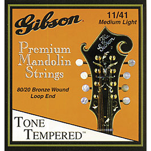 Gibson 80/20 Bronze Mandolin Strings - 3 sets of strings