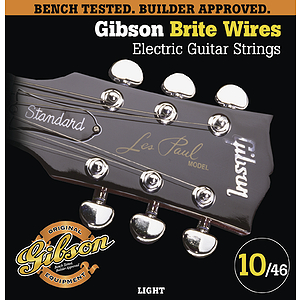 Gibson Brite Wires Electric Guitar Strings - Light - 3 sets of strings