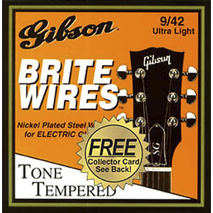 Gibson Brite Wires Electric Guitar Strings - Ultra Light - 3 sets of strings