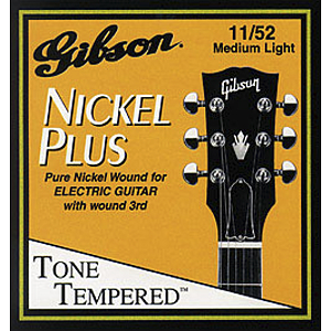 Gibson Nickel Plus Electric Guitar Strings - Light - 3 sets of strings