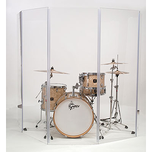"Gibraltar GDS-5 Acrylic Drum Shield 66"" x 10', 5 Panel"