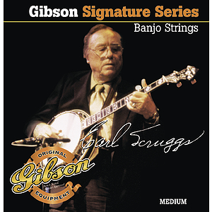 Gibson Earl Scruggs 5-string Banjo Strings - Medium - 3 sets of strings