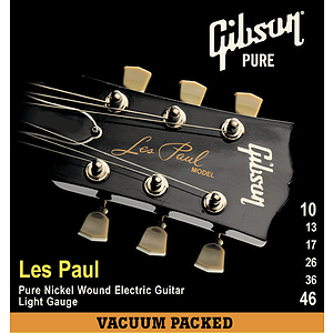 Gibson Les Paul Electric Guitar Strings - Light, 3 Sets