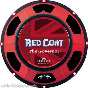 "Eminence Redcoat Series The Governor Guitar Speaker 12"" 8 Ohms 75 Watts"