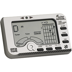 Qwik Tune GP1 Guitar Professor Tuner - Plus Electronic Pitch Pipe and Chord Finder