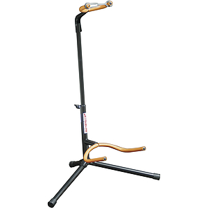 Stageline Folding Neck Guitar Stand - Black w/Orange Tubing