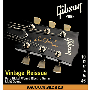 Gibson Vintage Re-Issue Electric Guitar Strings - Standard 10s - 3 sets of strings