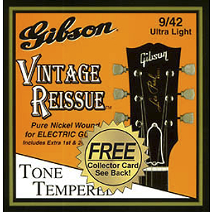 Gibson Vintage Re-Issue Electric Guitar Strings - Standard 9s - 3 sets of strings