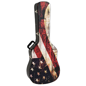 "Kaces Grafix Guitar Case - Dreadnought Acoustic, US Flag ""Old Glory"" Design"