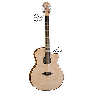 Luna Gypsy Flame Acoustic Guitar