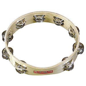 "Percussion Plus Tambourine - 10"" double row, headless"