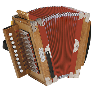 Hohner 3002 Ariette Cajun-Style Diatonic Accordion - Natural