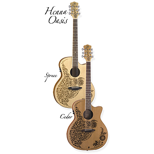 Luna Henna Oasis Spruce Acoustic-Electric Guitar