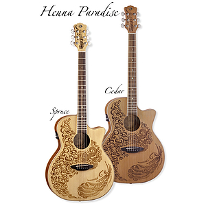 Luna Henna Paradise Spruce Acoustic-Electric Guitar
