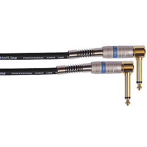 Hot Line 20&#039; Guitar Cable - 2 Right-angle plugs