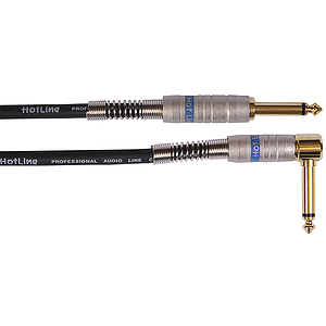 Hot Line 20' Guitar Cable - 1 Straight, 1 Right-angle Plug