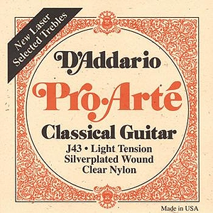 D'Addario J43 Pro-Arte Classical Nylon Guitar Strings - Light, 3 Sets