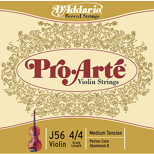 Pro-Arte Violin Strings - 4/4 size, 1 set