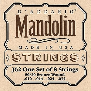 D'Addario J62 Mandolin Strings - Bronze, 3 Sets