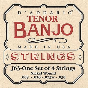 D'Addario J63 Tenor Banjo Strings - 3 Sets
