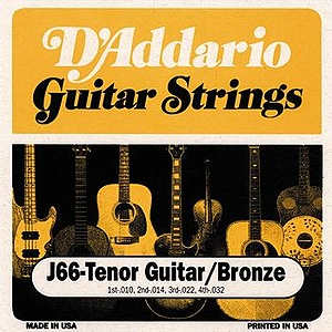 D'Addario J66 Tenor Guitar Strings - 3 Sets