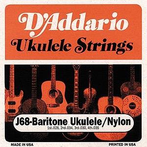 D'Addario J68 Baritone Ukulele Strings - 3 Sets