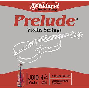 Prelude Violin Strings - 4/4 size, 1 set